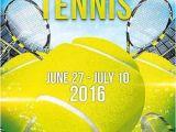 Tennis Brochure Template Tennis Wimbledon Psd Flyer Template Facebook Cover