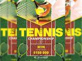 Tennis Flyer Template Free Tennis Championship Sport A5 Flyer Template