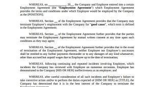 Termination Of Employment Contract by Mutual Agreement Template Sample Employment Termination Agreement 8 Free