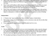 Terms and Conditions Of Employment Template Terms and Conditions Template F Resume