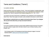 Terms and Conditions Of Employment Template Terms and Conditions Template Peerpex