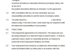 Terms Of Employment Contract Template 23 Hr Contract Templates Hr Templates Free Premium
