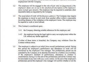 Terms Of Employment Contract Template Fixed Short Term Employment Contract Template