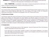 Terms Of Employment Contract Template Free Printable Employment Contract Sample form Generic