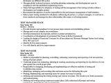 Test Manager Resume Template Test Manager Resume Samples Velvet Jobs