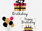 Text Happy Birthday Card Free Birthday Paper Party Gift Gratis Birthday Card Element