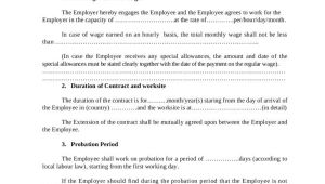 Thai Employment Contract Template 22 Employee Contract Templates Docs Word