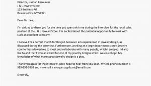 Thank You after Interview Card Job Interview Thank You Letter Template