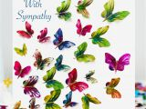 Thank You and Sympathy Card butterfly with Sympathy Card Premium butterfly Range