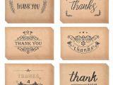 Thank You and Sympathy Card Groa Handel Dankeskarten Notizen Kraftpapier Groa Thank U Grua Karte Set Fur Hochzeit Graduation Bridal Party Jubilaum Geburtstag Von