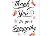 Thank You and Sympathy Card Thank You for the Sympathy Postcard Zazzle Com Sympathy