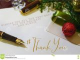 Thank You at Christmas Card Christmas Thank You Card with Hashtag Stock Image Image Of