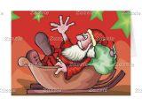 Thank You at Christmas Card Funny Santa Claus Christmas Card Modern Christmas Cards