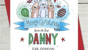 Thank You at Christmas Card Godson Christmas Card Christmas Card for Teacher