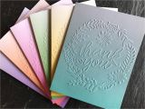 Thank You Card and Gift assorted Thank You Cards Set Of 6 Embossed Thank You Note