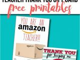 Thank You Card and Gift Free Teacher Gift Card Printable Thank You Card Idea Need