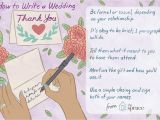 Thank You Card and Gift Wedding Thank You Note Wording Examples
