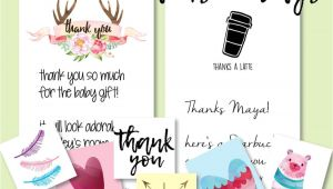 Thank You Card Baby Gift Baby Shower Hostess Gifts Printable Thank You Cards Thank