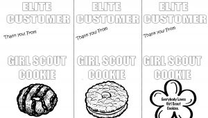 Thank You Card Coloring Page Girl Scout Cookie Thank You Coloring Magnet Printable Print