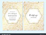 Thank You Card Design for Wedding Wedding Invitation Thank You Card Save Stock Vektorgrafik