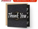 Thank You Card Envelope Size Thank You Greeting Card