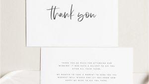 Thank You Card Examples Wedding Printable Thank You Card Wedding Thank You Cards Instant