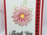 Thank You Card Flower Design Real Red Daisy Delight Quick Easy Thank You Card Using