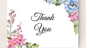 Thank You Card Flower Design Wedding Thank You Card Printable Floral Thank You Card