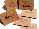 Thank You Card for Birthday Wishes D 36pcs Thank You Notes Cards with Envelope and Stickers Set Kraft Paper Greeting Cards
