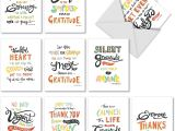 Thank You Card for Birthday Wishes Thank You Appreciation Greeting Cards 10 Pack assorted Blank Words Of Appreciation Thankful Note Card Set Colorful Gratitude and Thanks Notecard