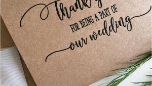 Thank You Card for Bridesmaid Wedding Party Thank You Card Wedding Party Gifts Wedding