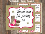 Thank You Card for Farewell Party Girly Military Farewell Party Thank You Card Goody Bag Tag