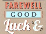 Thank You Card for Farewell Party Image Result for Goodbye Good Luck Card