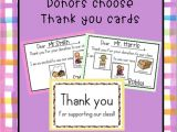 Thank You Card for Your Donation Donors Choose Thank You Cards Thank You Cards Book Bins
