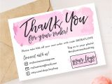 Thank You Card for Your order Instant Download Editable and Printable Thank You Card for