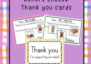 Thank You Card for Your Support Donors Choose Thank You Cards Thank You Cards Book Bins