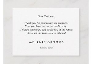Thank You Card for Your Support Gold Leaf Logo Black Thank You for Your Purchase Enclosure