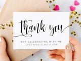 Thank You Card Graduation Money Graduation Templates June 2019