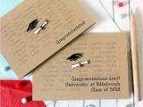 Thank You Card Graduation Money Personalised Graduation Congratulations Card Exam Card