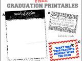 Thank You Card Graduation Money Words Of Wisdom Free Graduation Printables More