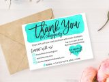 Thank You Card Ideas for Business Diy Printable Thank You Card for Your order Teal & Gold