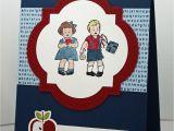 Thank You Card Ideas for Teachers Stampin Up Greeting Card School Kids Kids Cards Teacher