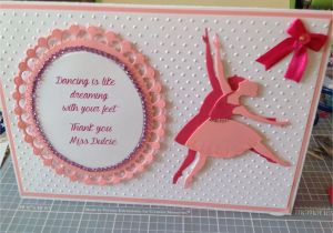 Thank You Card Ideas for Teachers Thank You Dance Teachers Card with Images Greeting Cards