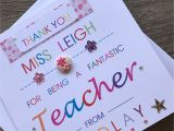 Thank You Card Ideas for Teachers Thank You Personalised Teacher Card Special Teacher Card