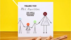 Thank You Card Japanese Teacher Thank You Teacher with Children Card