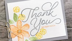 Thank You Card Just because Fancy Friday Blog Hop Just because Thanks Card Note