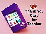 Thank You Card Kaise Banate Hain Thank You Card for Teacher Easy Handmade Greeting Card Diy Gift Idea