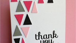 Thank You Card Making Ideas Triangle Filled Thanks Tarjetas De Cumpleaa Os Hechas A