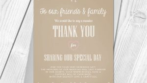 Thank You Card Next Day Delivery Premium Personalised Wedding Thank You Cards Wedding Guest