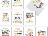 Thank You Card Paper Weight Thank You Appreciation Greeting Cards 10 Pack assorted Blank Words Of Appreciation Thankful Note Card Set Colorful Gratitude and Thanks Notecard